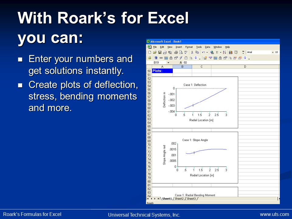 Roarks Formulas for Excel Universal Technical Systems, Inc.
