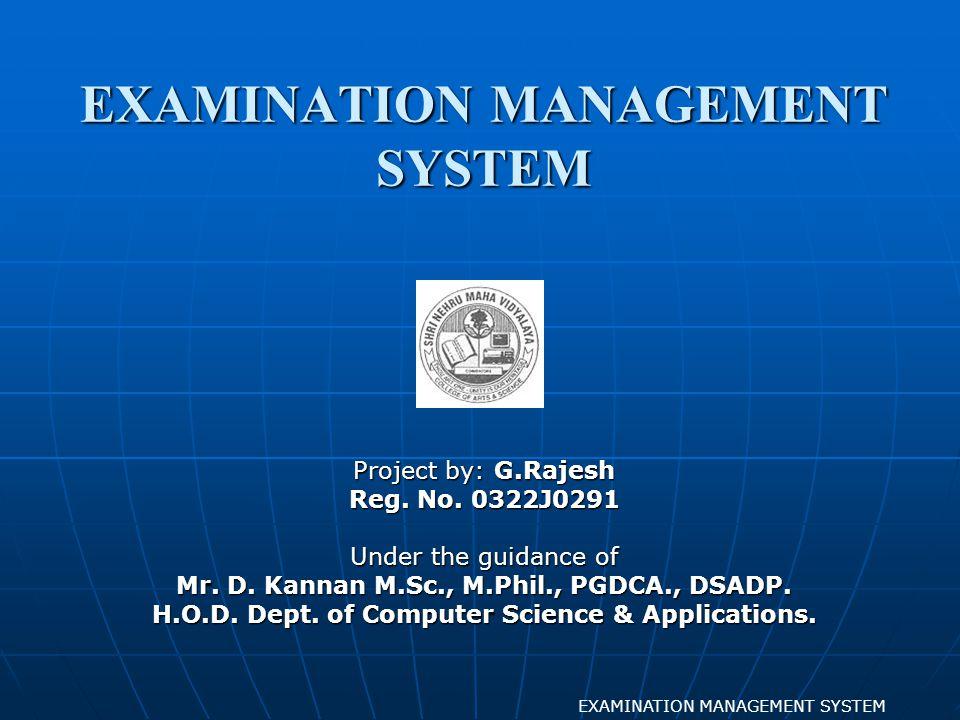 LOGIN FORM EXAMINATION MANAGEMENT SYSTEM FORM DESIGN