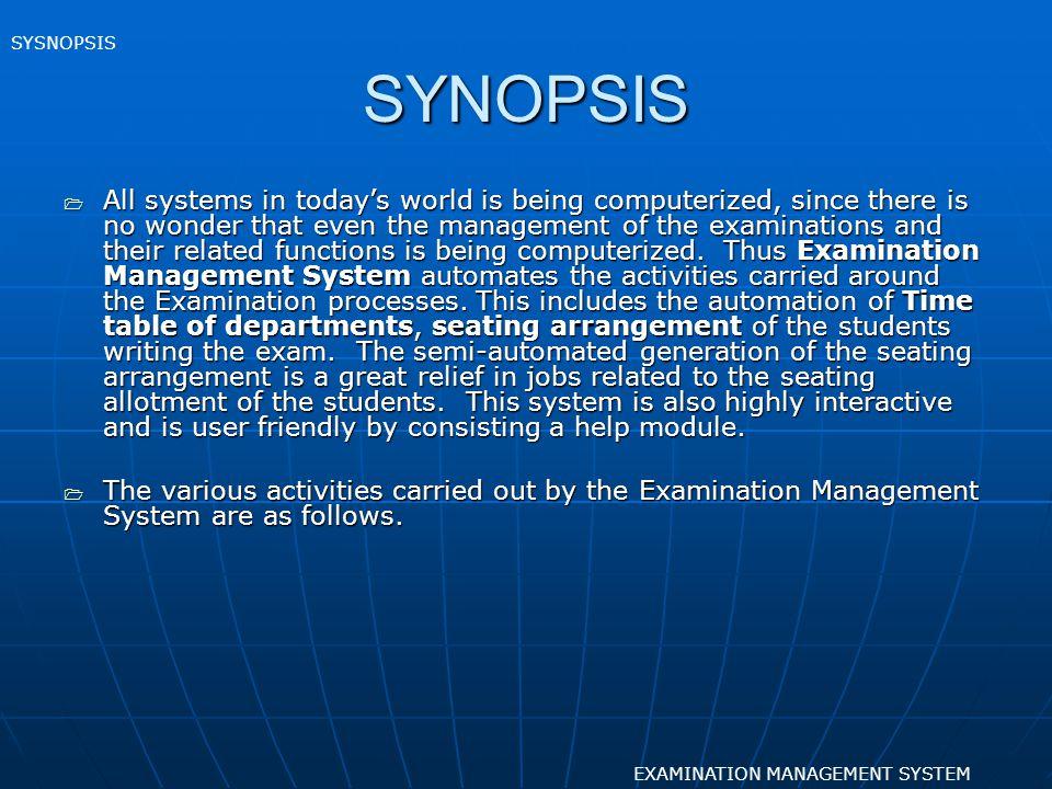 SELECTING JOB EXAMINATION MANAGEMENT SYSTEM FORM DESIGN