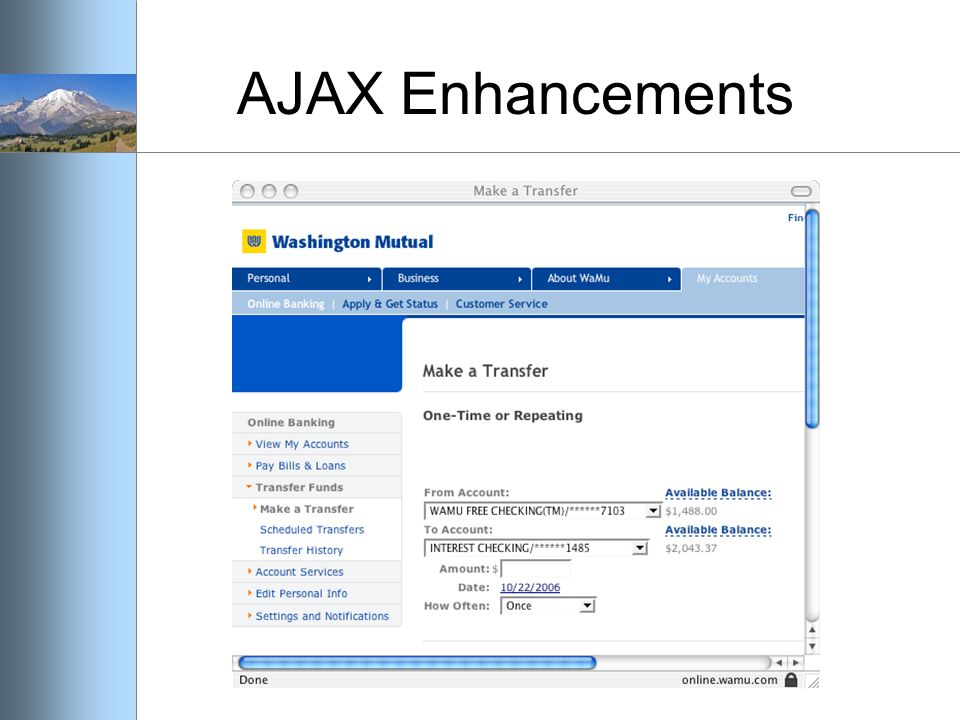 AJAX Enhancements