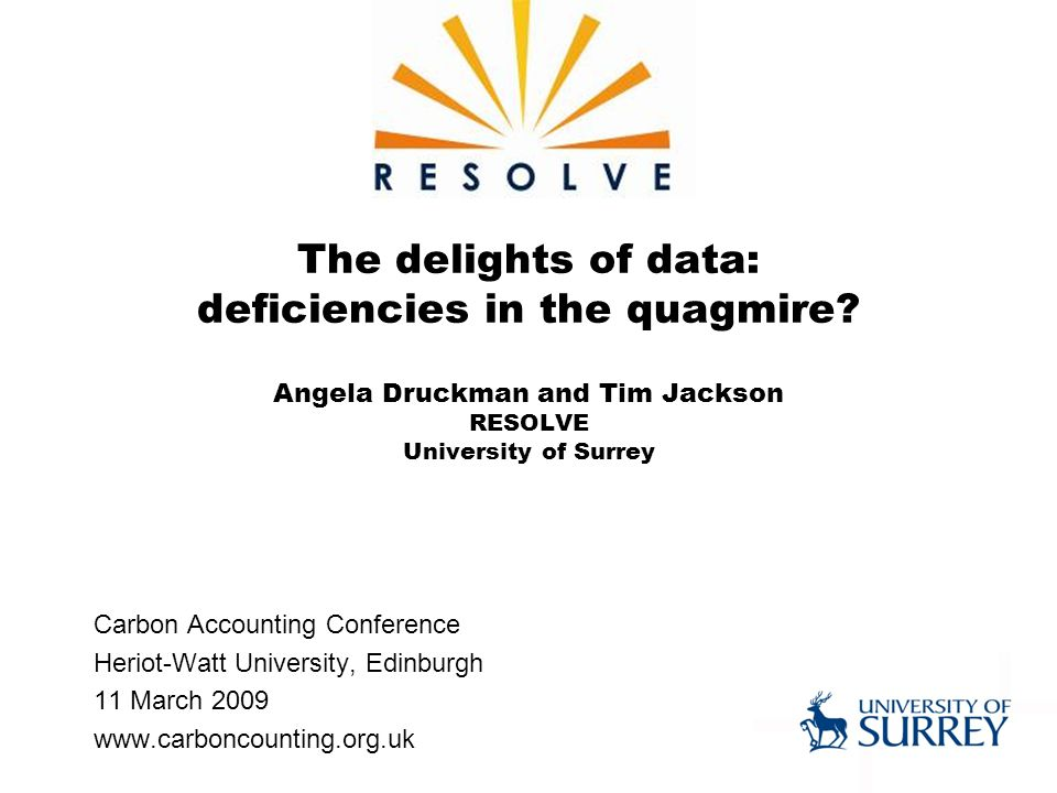 The delights of data: deficiencies in the quagmire.