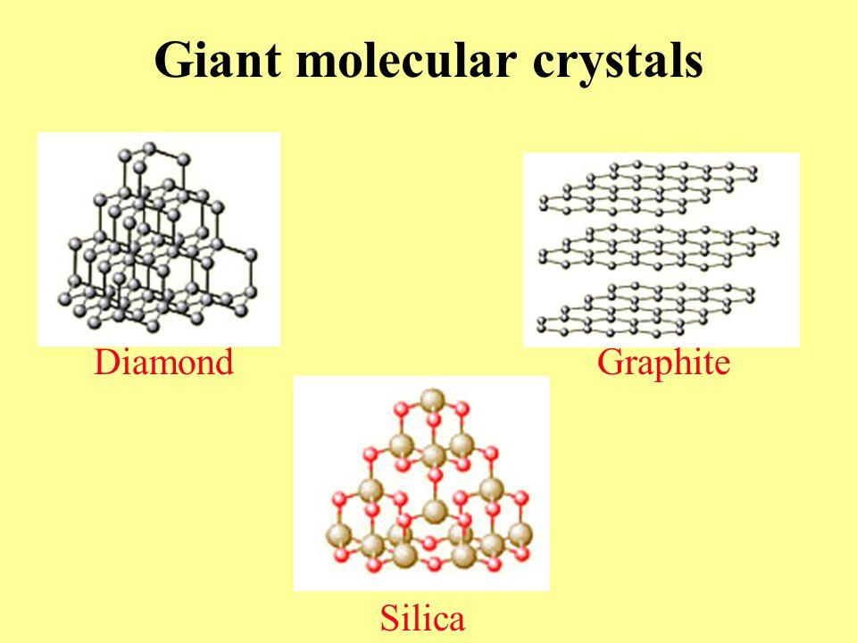Diamond Graphite Silica Giant molecular crystals