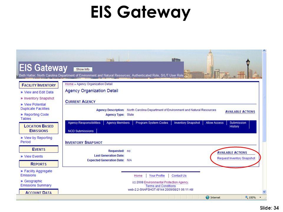 EIS Gateway Slide: 34