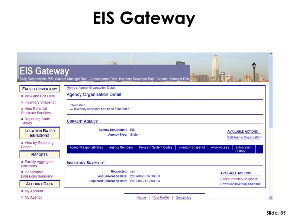 EIS Gateway Slide: 35