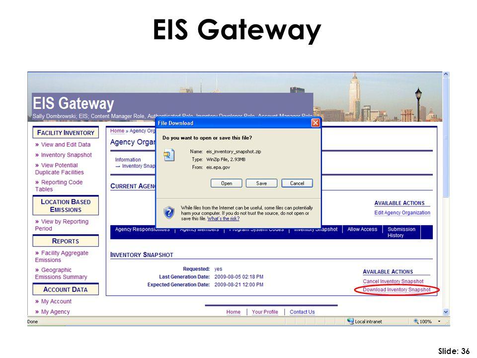 EIS Gateway Slide: 36