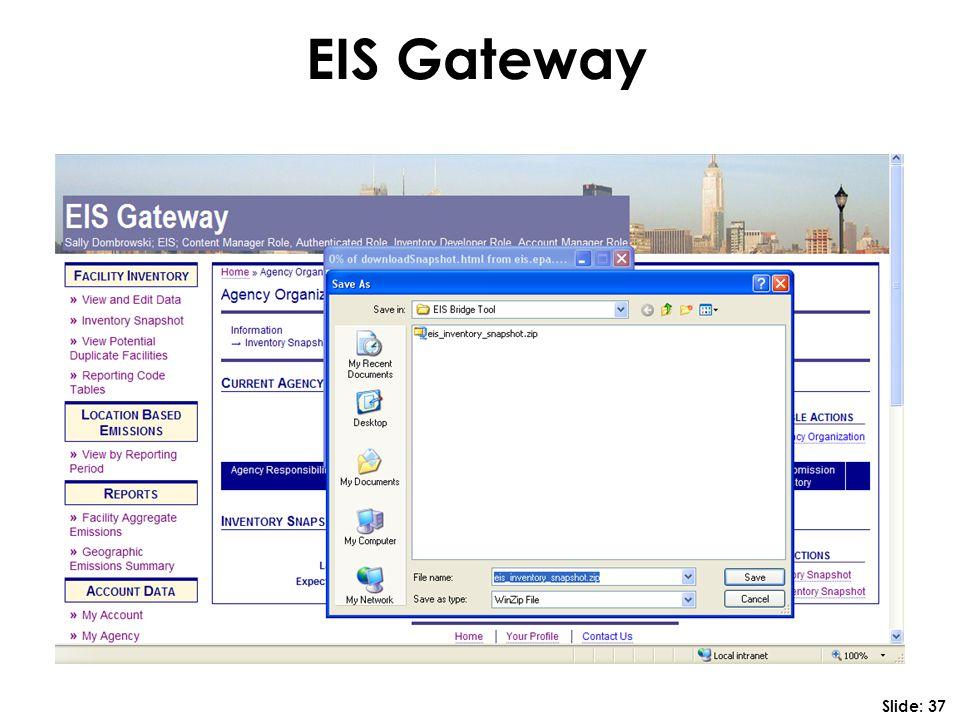 EIS Gateway Slide: 37