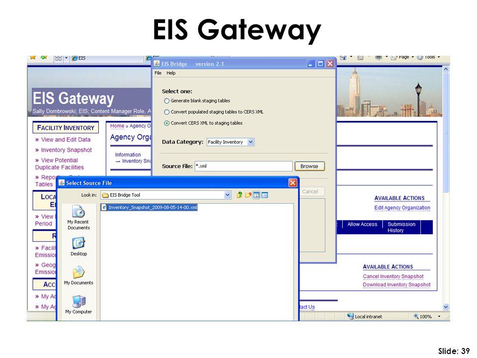 EIS Gateway Slide: 39
