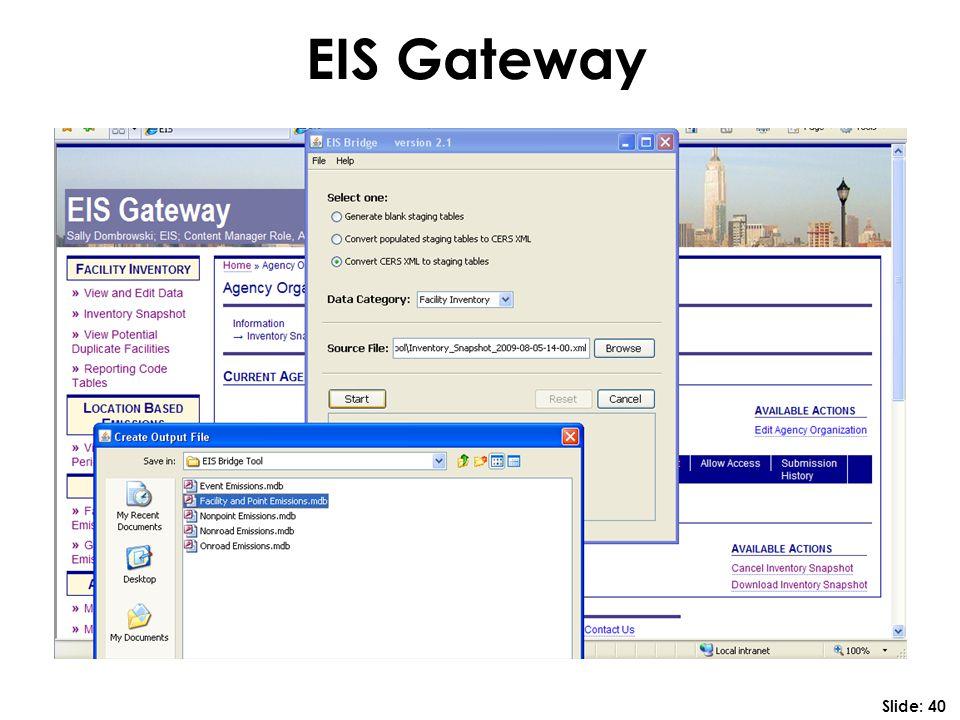 EIS Gateway Slide: 40
