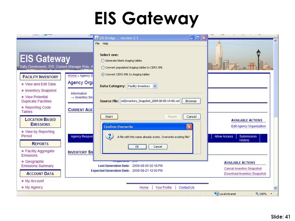EIS Gateway Slide: 41