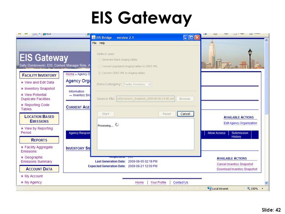 EIS Gateway Slide: 42