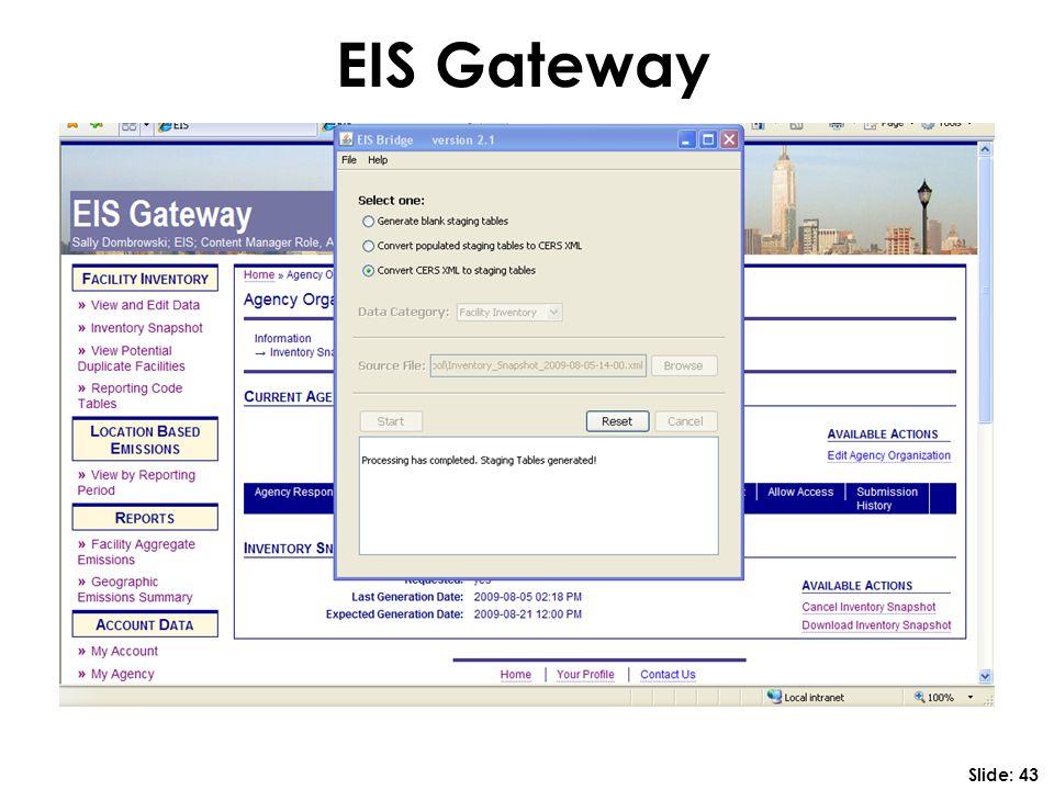 EIS Gateway Slide: 43