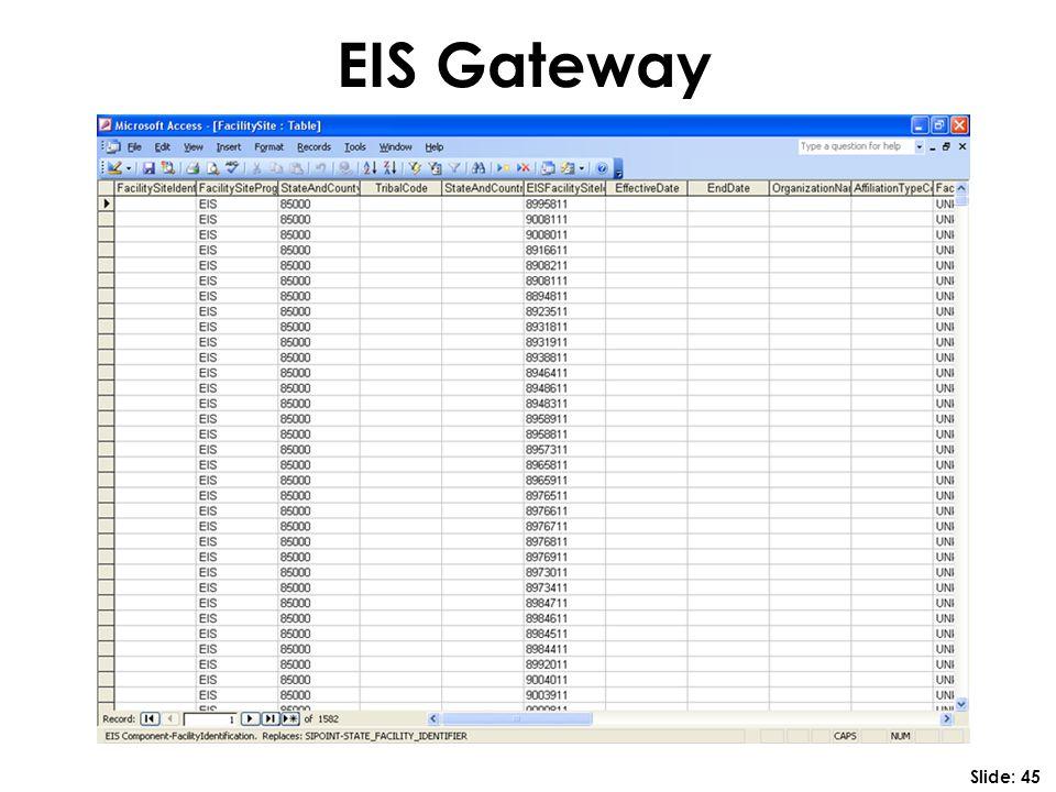 EIS Gateway Slide: 45