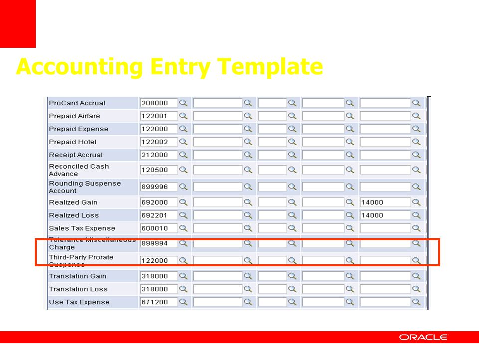 Accounting Entry Template