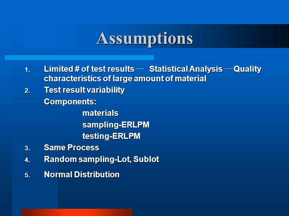 Specific Procedures 1. Sublots, Lots, Partial Lots 2. Calculations 3. Retesting 4. Outliers