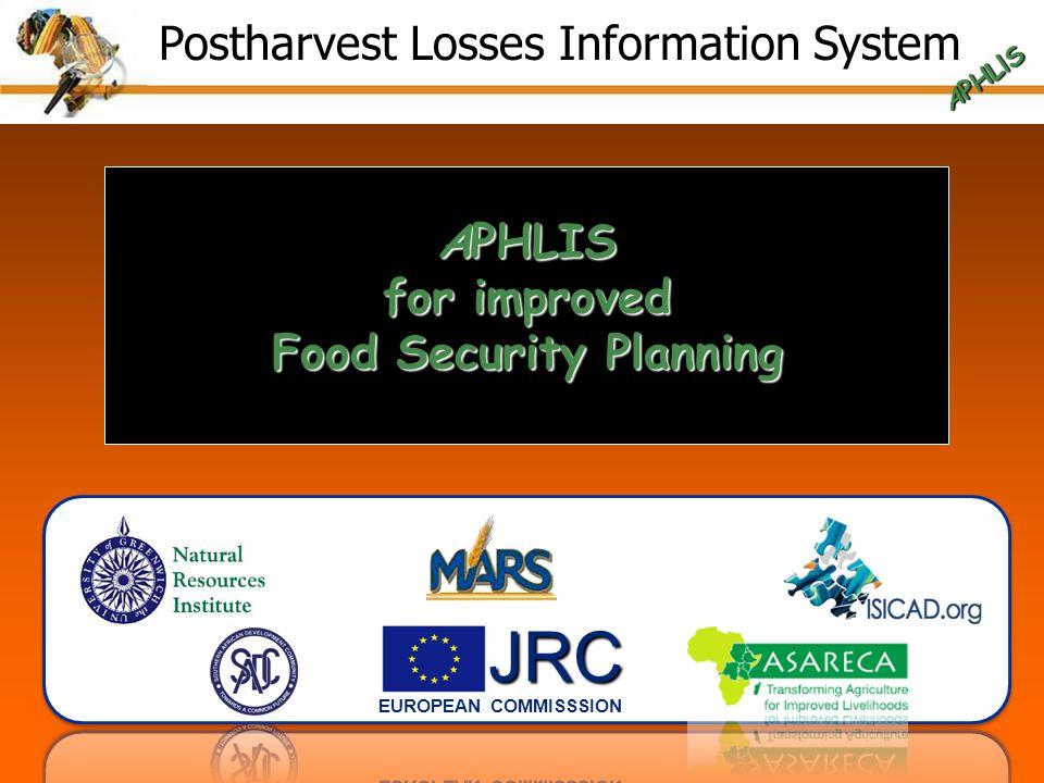 APHLIS for improved Food Security Planning Postharvest Losses Information System APHLlS