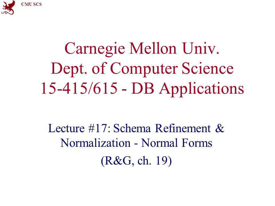 CMU SCS Carnegie Mellon Univ.Dept.