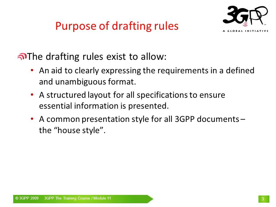 © 3GPP 2009 Mobile World Congress, Barcelona, 19 th February 2009© 3GPP 2009 3GPP The Training Course / Module 11 24 List example