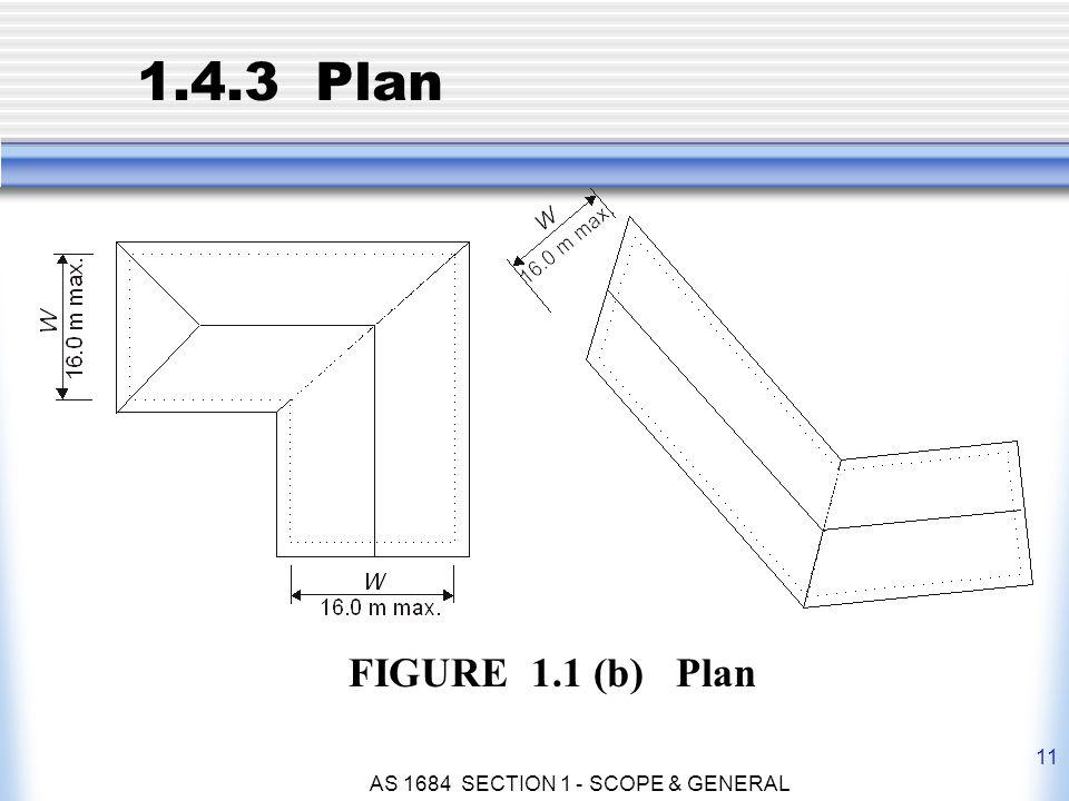 AS 1684 SECTION 1 - SCOPE & GENERAL 11 1.4.3 Plan FIGURE 1.1 (b) Plan