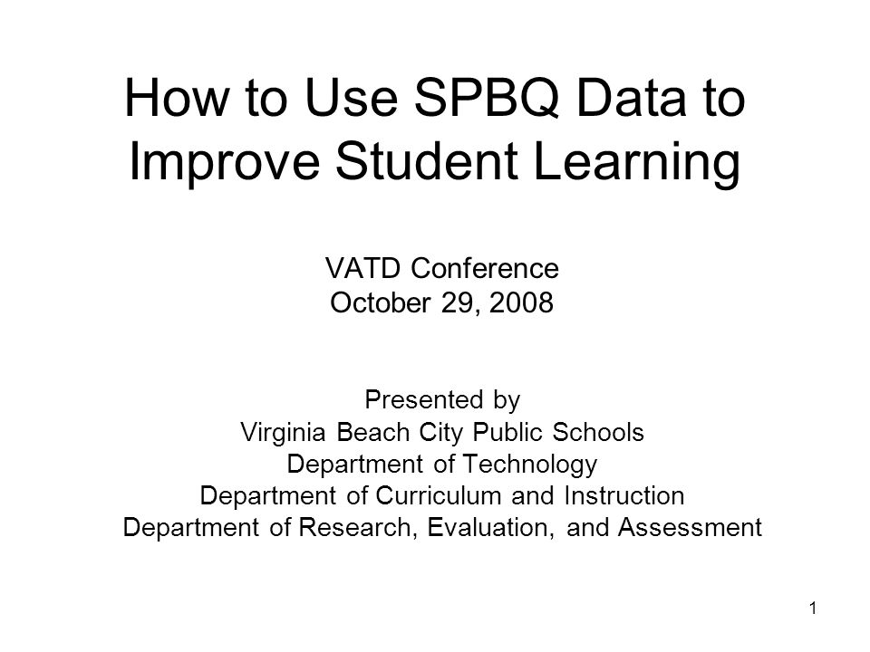 32 SPBQ Report by School, Division – 3 year This report displays the SPBQ data over a 3-year span for a selected school.