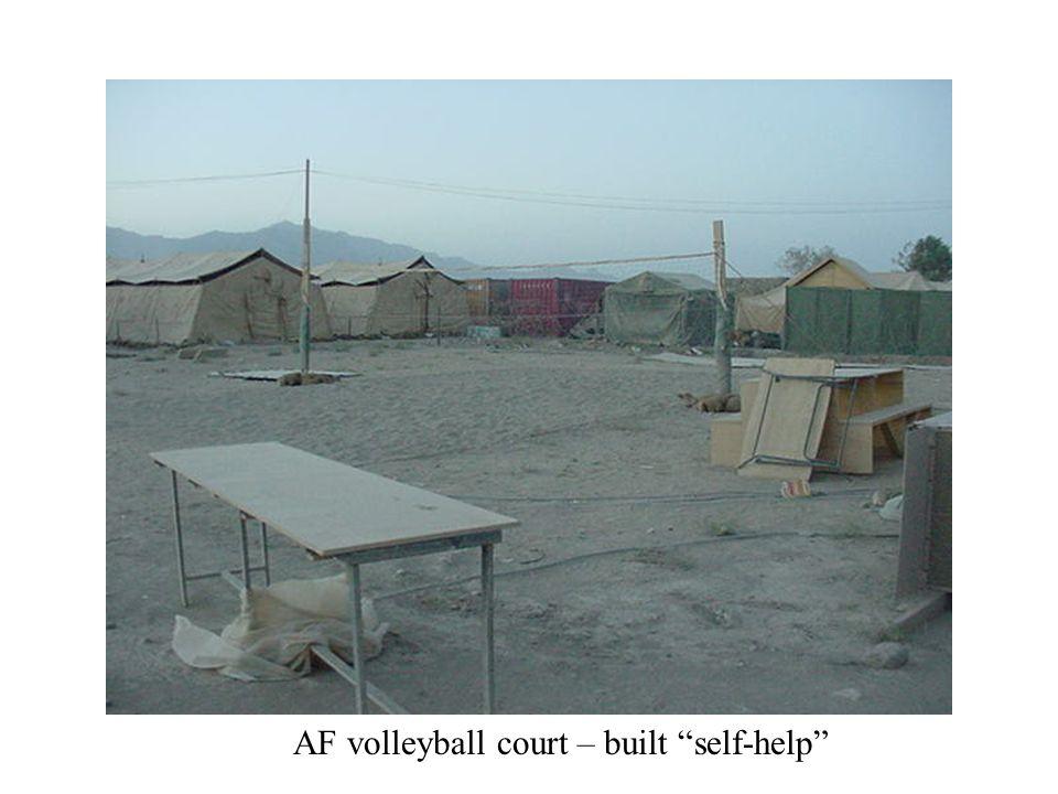 AF volleyball court – built self-help