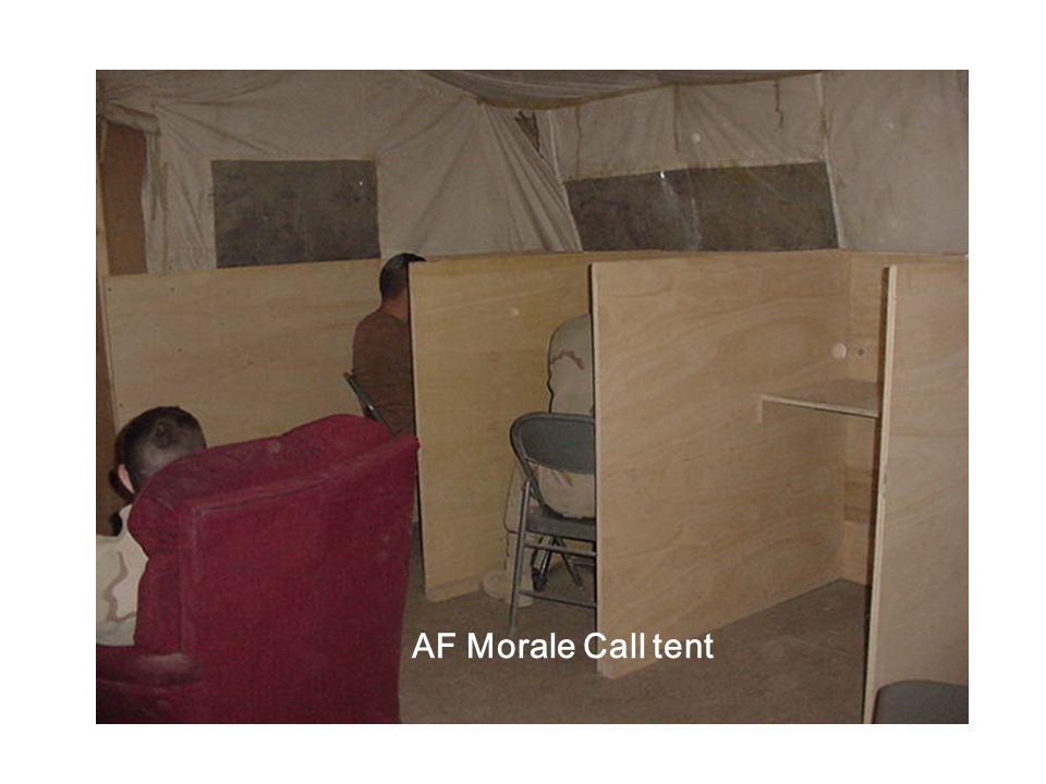 AF Morale Call tent
