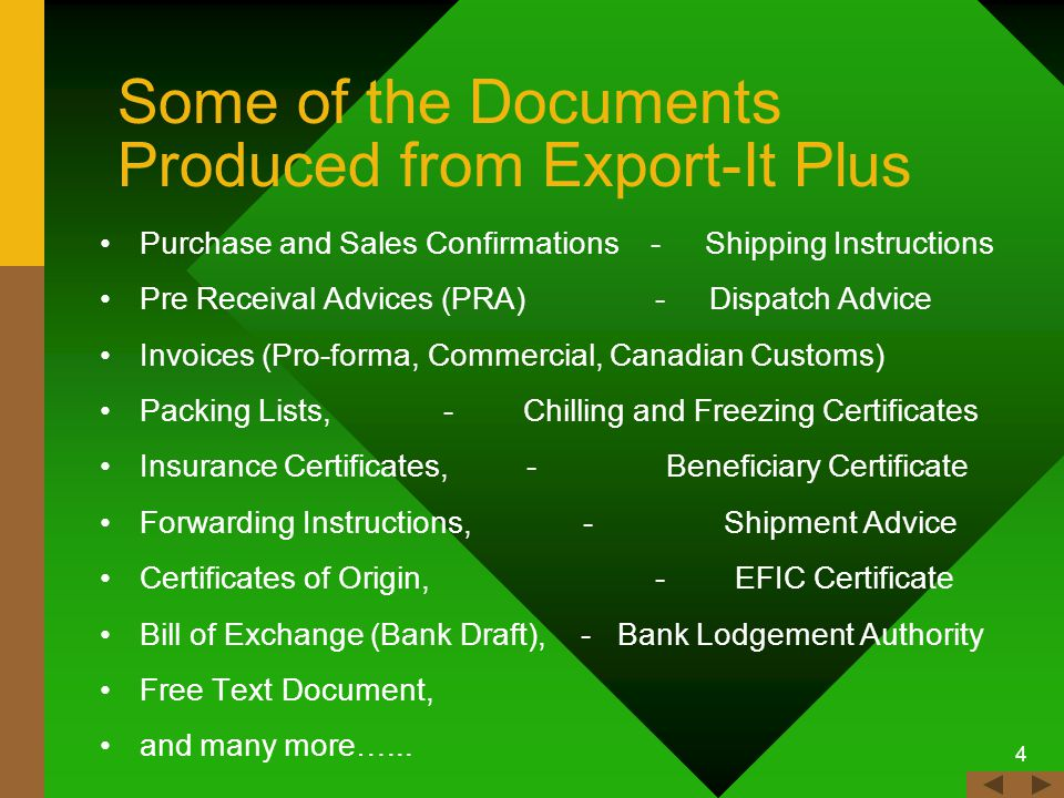 3 Export-It Plus Benefits...