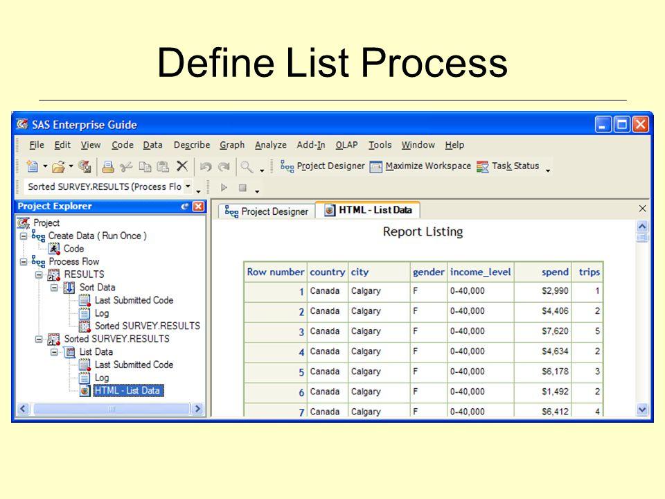 Define List Process