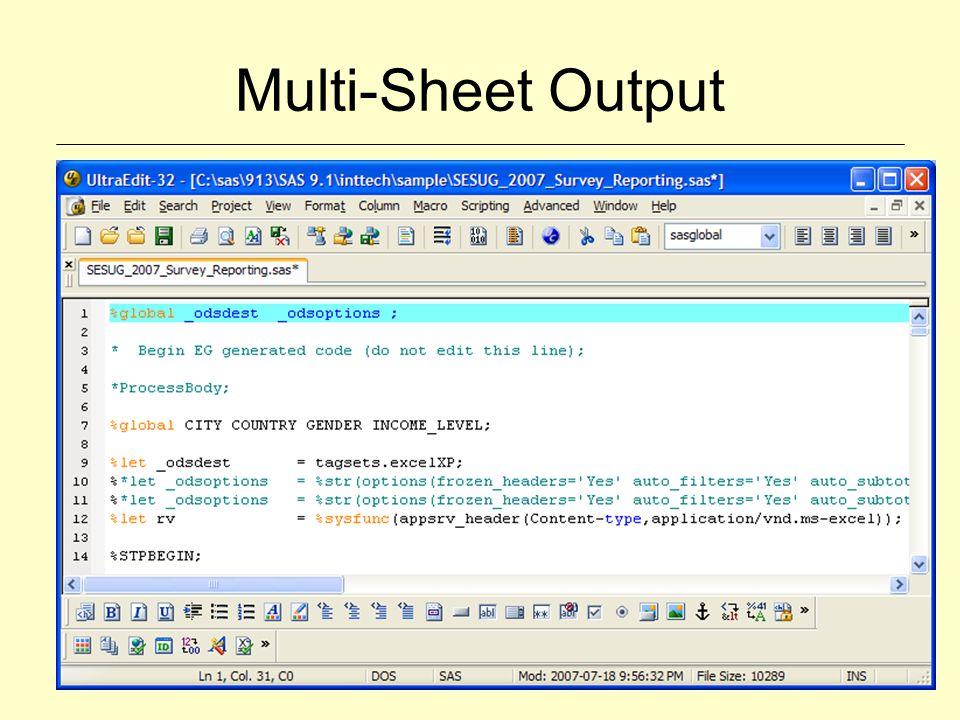 Multi-Sheet Output