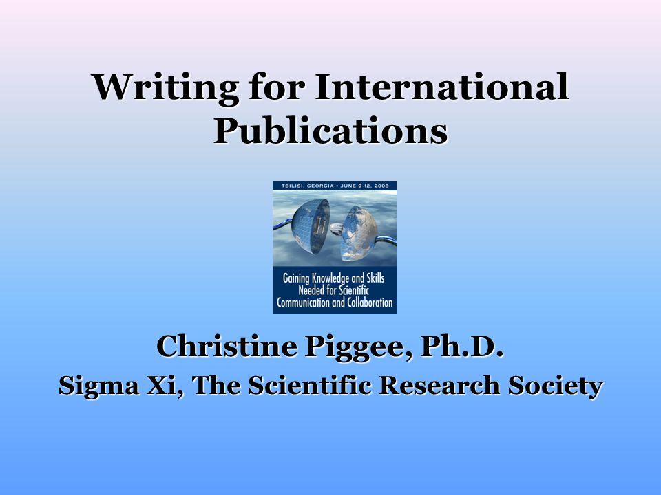 Slide 2 of 23 Writing a Scientific Paper by Margaret Foster; www.aaas.org/international/eca/presentrus/mfsci/sld001.htm.