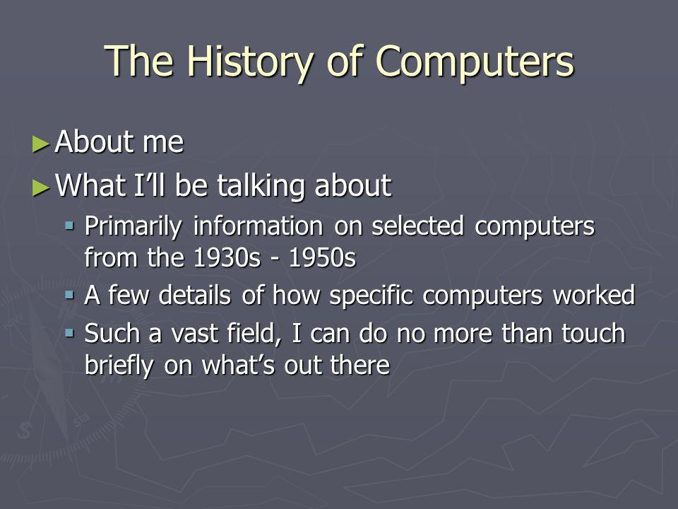 Hobby / Training Computers 1950s - 1960s