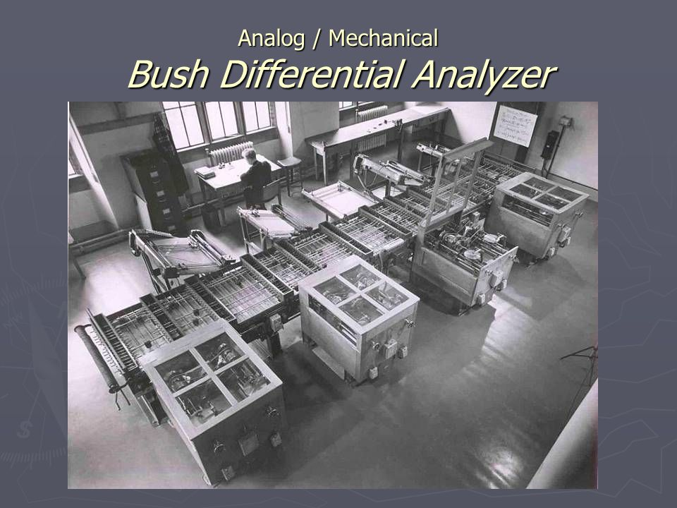 Analog / Mechanical Bush Differential Analyzer
