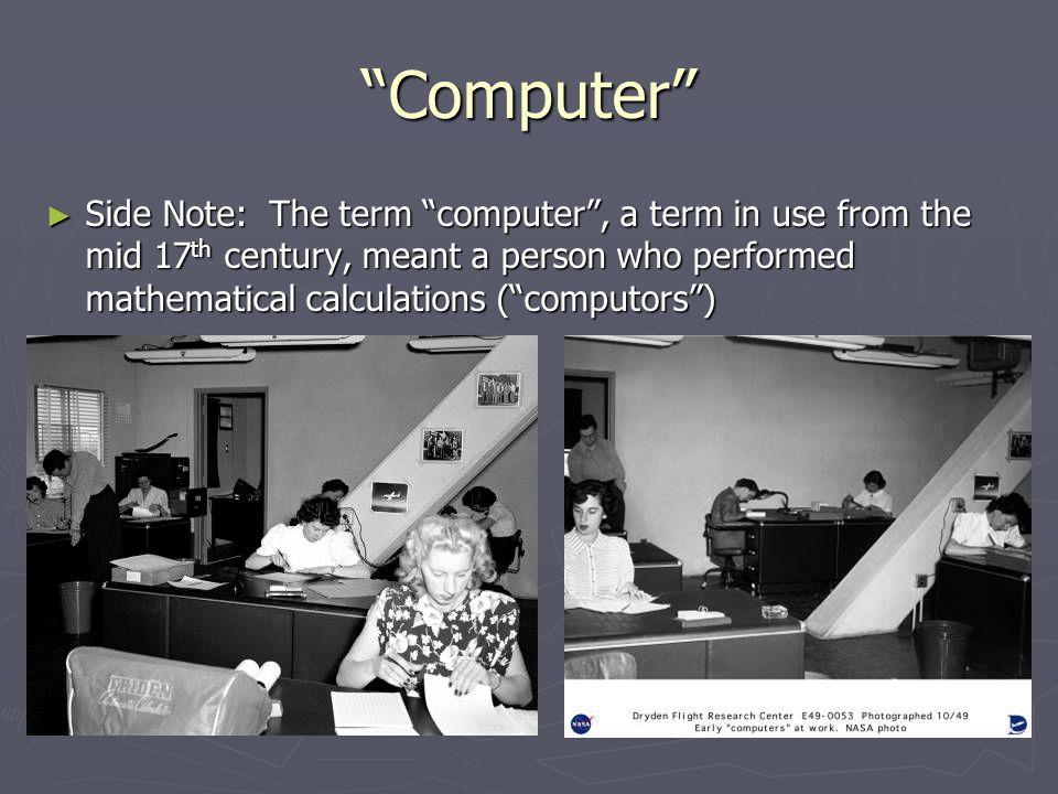 Analog / Mechanical Computers Early 1900s