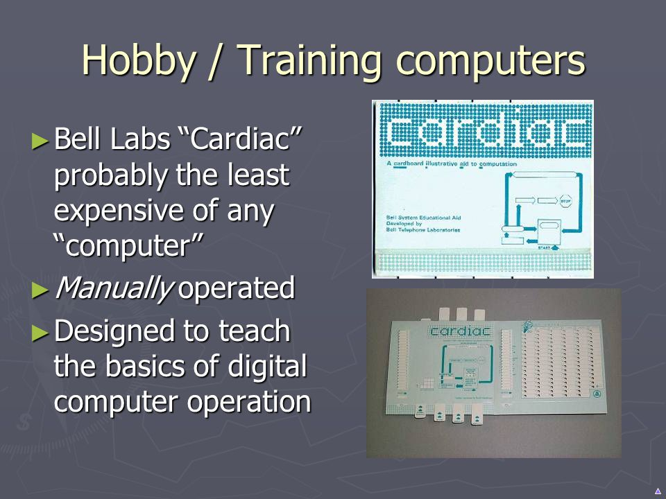 Hobby / Training computers Bell Labs Cardiac probably the least expensive of any computer Bell Labs Cardiac probably the least expensive of any comput