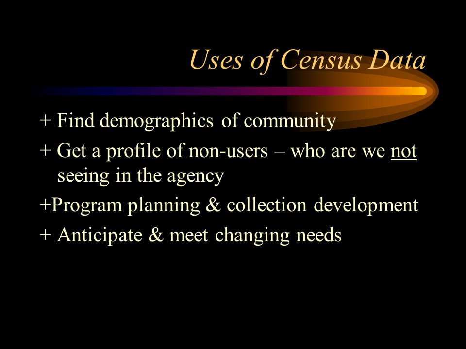 Geographic Areas Data available for towns, cities, townships, counties, and Census Designated Places, such as Turpin Hills or Kenwood Neighborhoods, not used in Census publications.