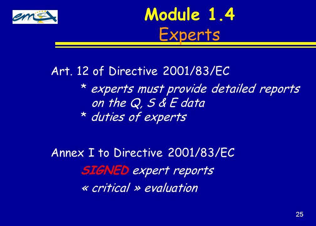 Module 1.4 Experts Art.