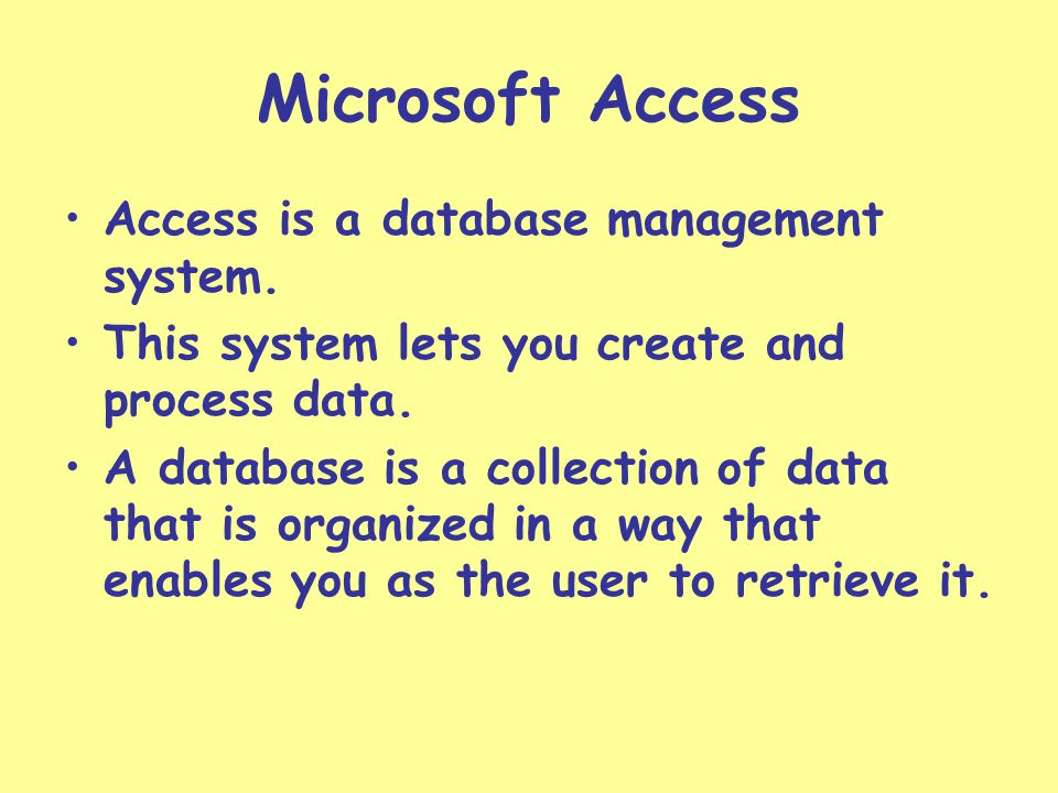 Database A database is like a book cover.Everything is included in chapters.