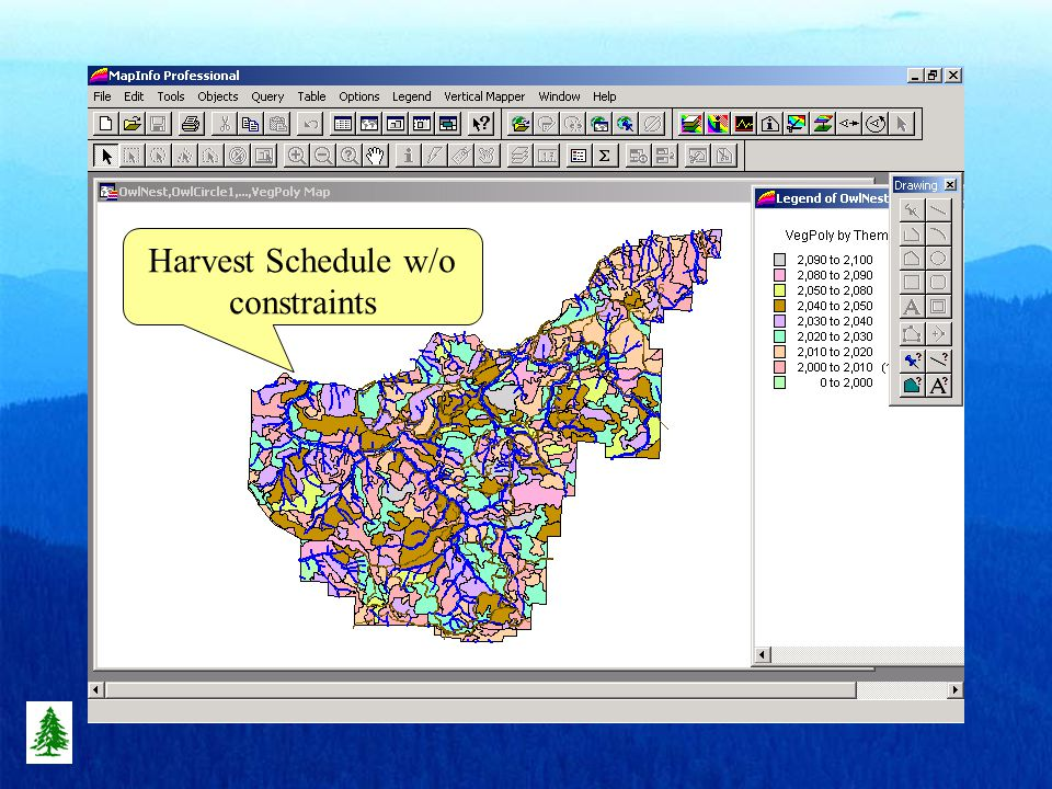 Harvest Schedule w/o constraints
