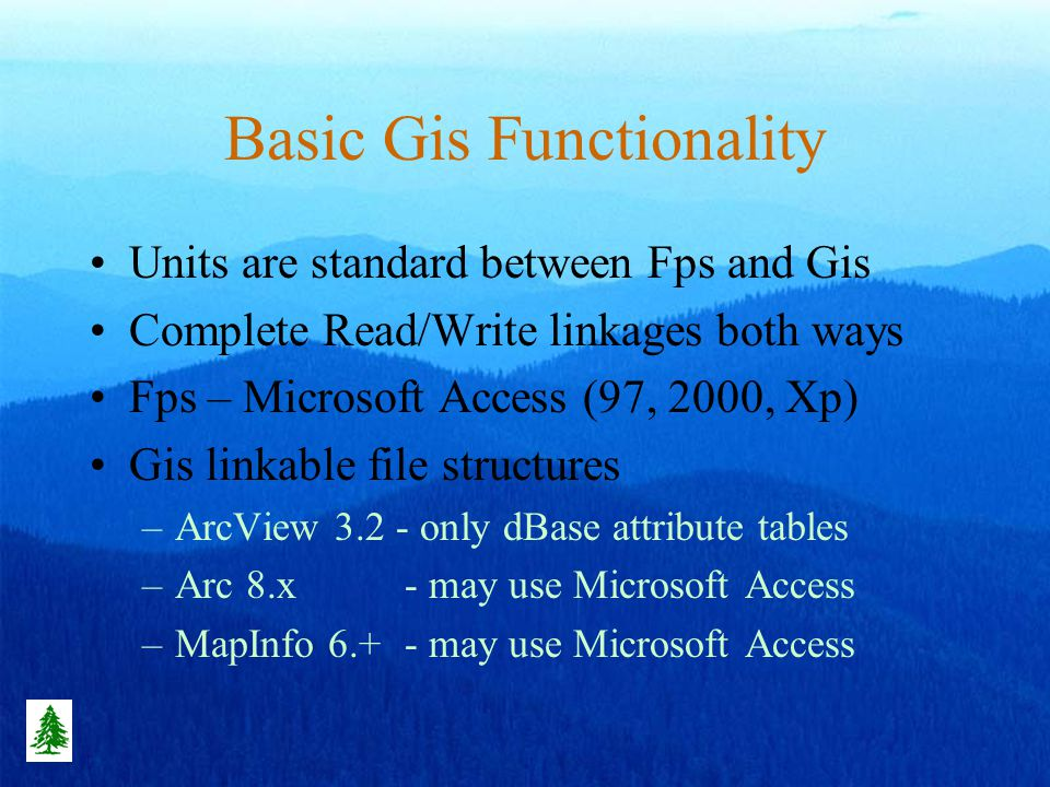 FPS Automated Cruise Selection Use FPS Menu –Set Sample size –Run Selection –Pass to GIS Map Go To Field