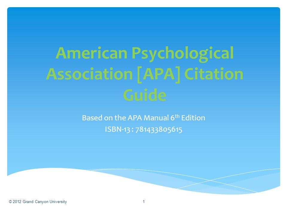 Paper Format Slides 4-10 In-Text Citations Slides 11-42 References Slides 43-85 Table of Contents 2
