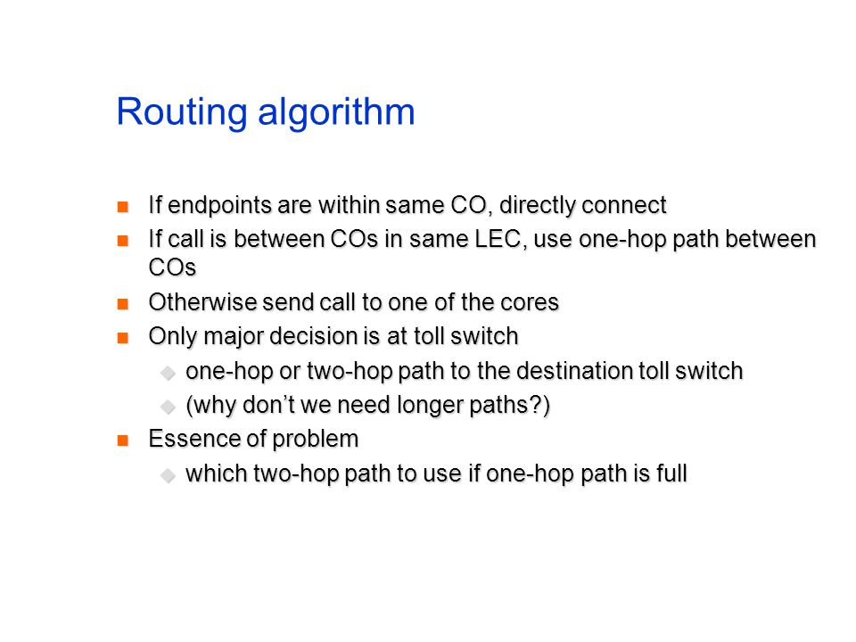 A problem Reverse path forwarding requires a router to know shortest path to a source Reverse path forwarding requires a router to know shortest path to a source known from routing table known from routing table Doesnt work if some routers do not support multicast Doesnt work if some routers do not support multicast virtual links between multicast-capable routers virtual links between multicast-capable routers shortest path to A from E is not C, but F shortest path to A from E is not C, but F