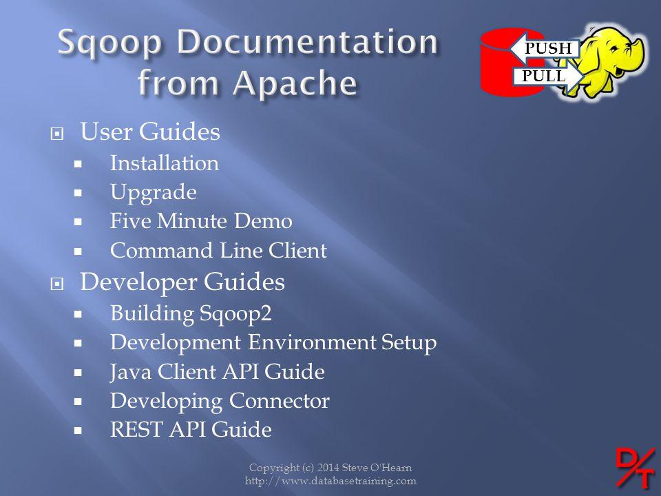Copyright (c) 2014 Steve O'Hearn http://www.databasetraining.com User Guides Installation Upgrade Five Minute Demo Command Line Client Developer Guide