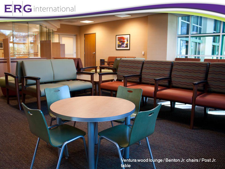 Ventura wood lounge / Benton Jr. chairs / Post Jr. table