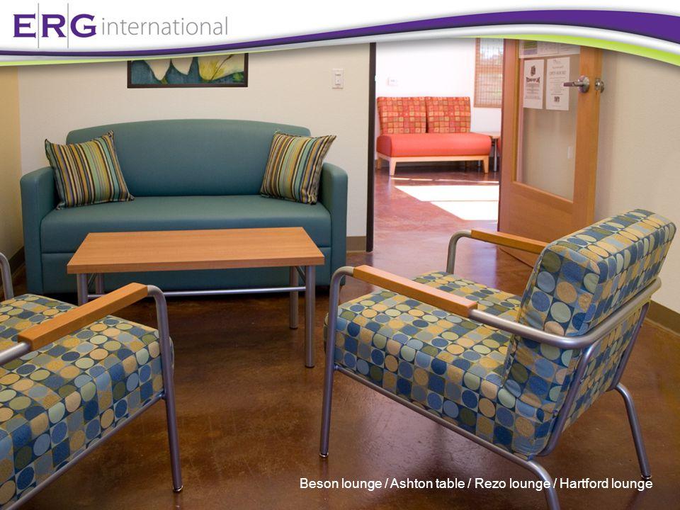 Beson lounge / Ashton table / Rezo lounge / Hartford lounge