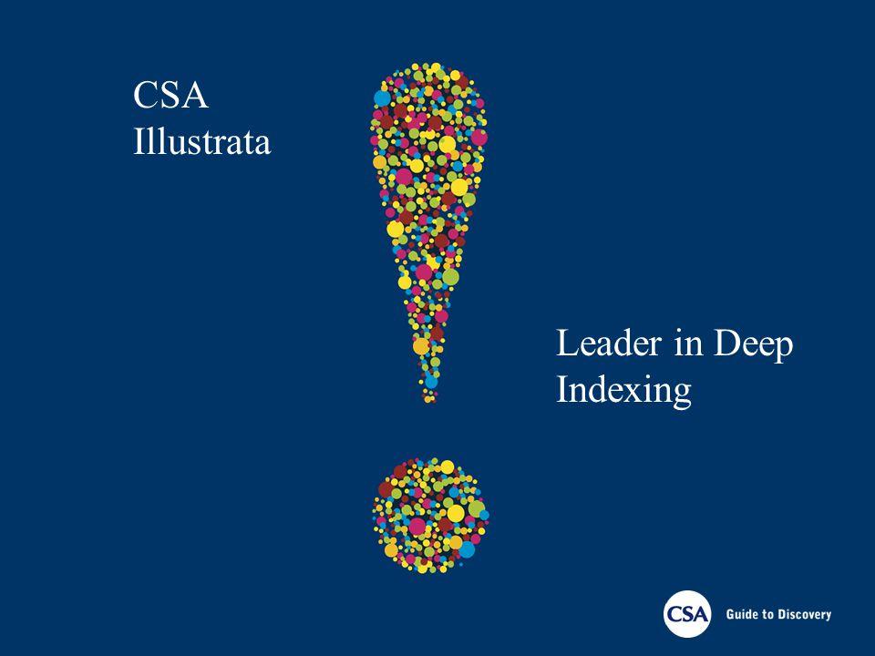 CSA Illustrata Leader in Deep Indexing