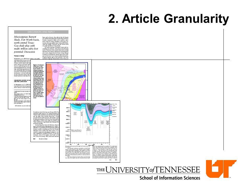 2. Article Granularity