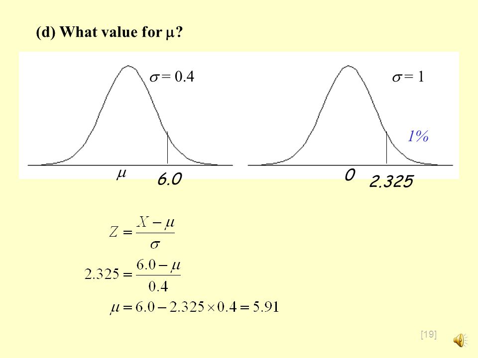 [18] There is an EXCEL function NORMINV that does this exactly: The exact value is 2.326, so our approximation of 2.325 isnt too bad
