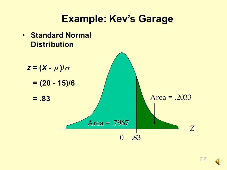 [21] Example: Kevs Garage Kevs garage sells a popular multi-grade motor oil.