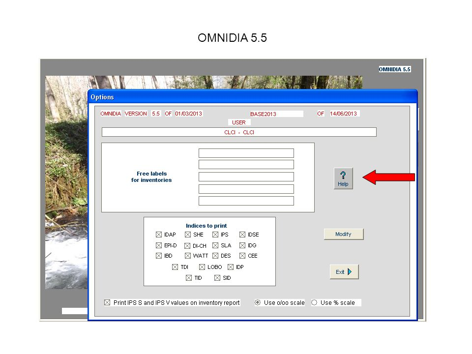 OMNIDIA 5.3 Select the file you wish to import.