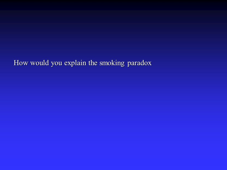 How would you explain the smoking paradox