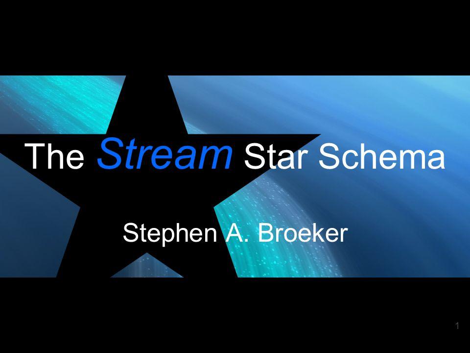1 The Stream Star Schema Stephen A. Broeker 1010